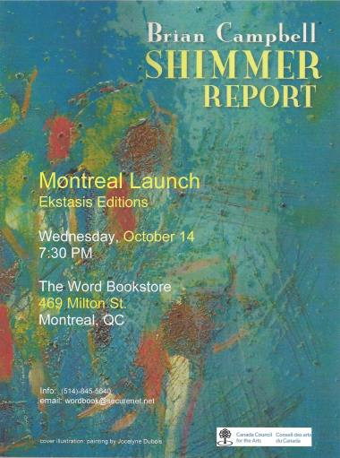 SHIMMER REPORT Montreal launch POSTER